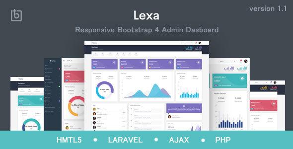 Lexa - Responsive Admin & Dashboard Template