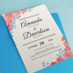Floral Wedding Invitations Set - GraphicRiver Item for Sale