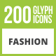 200 Fashion Glyph Inverted Icons - GraphicRiver Item for Sale