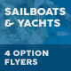 Sailboats and Luxury Yachts Flyers – 4 Options - GraphicRiver Item for Sale
