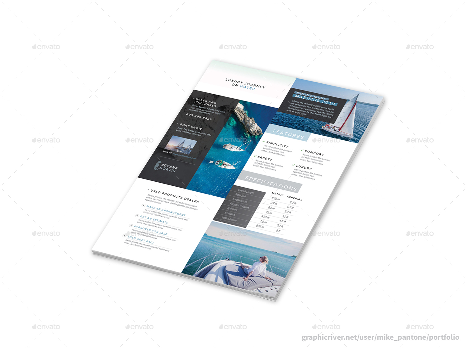 Sailboats and Luxury Yachts Flyers – 4 Options