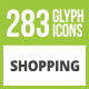 284 Shopping Glyph Inverted Icons - GraphicRiver Item for Sale
