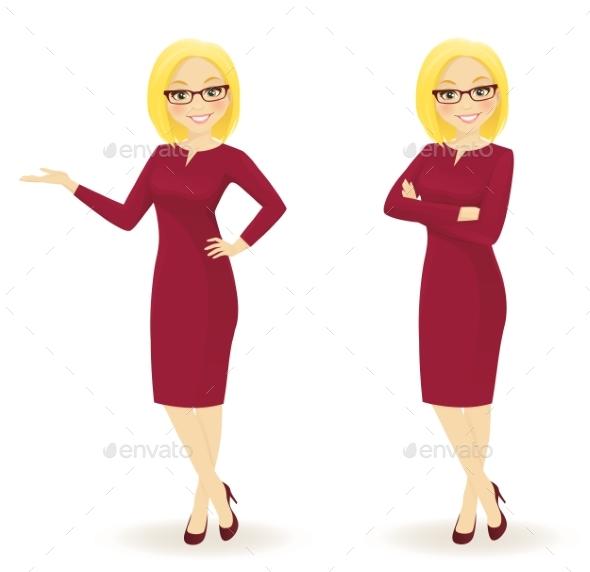 Elegant Business Woman - Business Conceptual