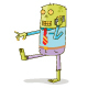 Walking Zombie Uses Smart Phone - GraphicRiver Item for Sale