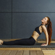Sitting yoga with a beautiful redhead woman - PhotoDune Item for Sale