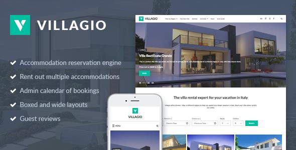 Villagio - Property Rental WordPress Theme - Real Estate WordPress