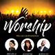 Worship Minimal Church Flyer - GraphicRiver Item for Sale