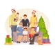 Family Christmas Vector - GraphicRiver Item for Sale