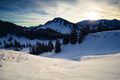 morning sunlight over snowy mountains - PhotoDune Item for Sale
