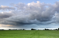 shower cloud over green meadow - PhotoDune Item for Sale