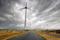 dark clouded sky and wind turbines - PhotoDune Item for Sale