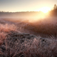 winter sunrise over frosty meadow - PhotoDune Item for Sale