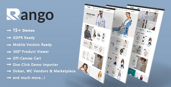 Rango - Modern Fashion WooCommerce WordPress Theme - WooCommerce eCommerce