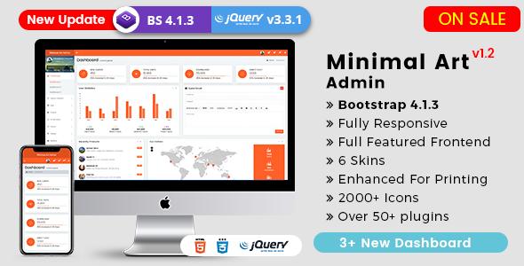 Minimal Art Admin - Responsive Bootstrap 4 Admin Dashboard & WebApp Templates