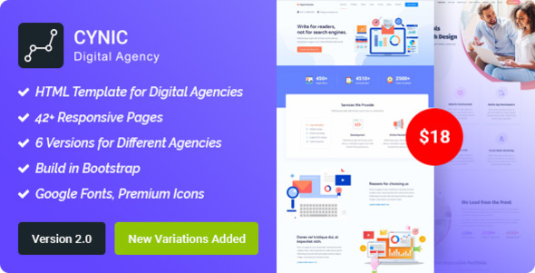 Digital Agency/SEO Agency HTML Template - Technology Site Templates