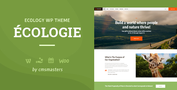 Ecologie - Environmental & Ecology WordPress Theme - Environmental Nonprofit
