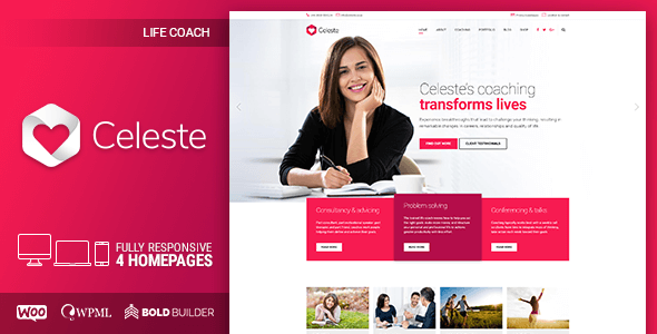 Celeste - Life Coach and Therapist WordPress Theme - Business Corporate