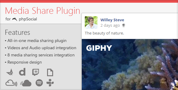 Media Share Plugin for phpSocial - CodeCanyon Item for Sale