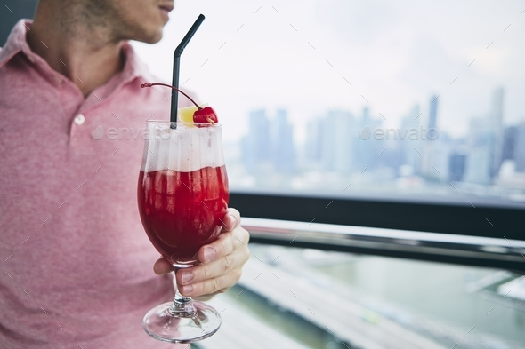 Singapore Sling drink - Stock Photo - Images