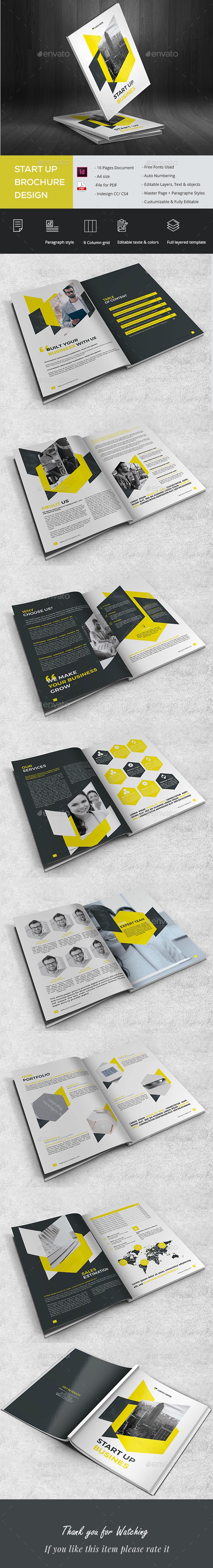 Start Up Brochure - Brochures Print Templates