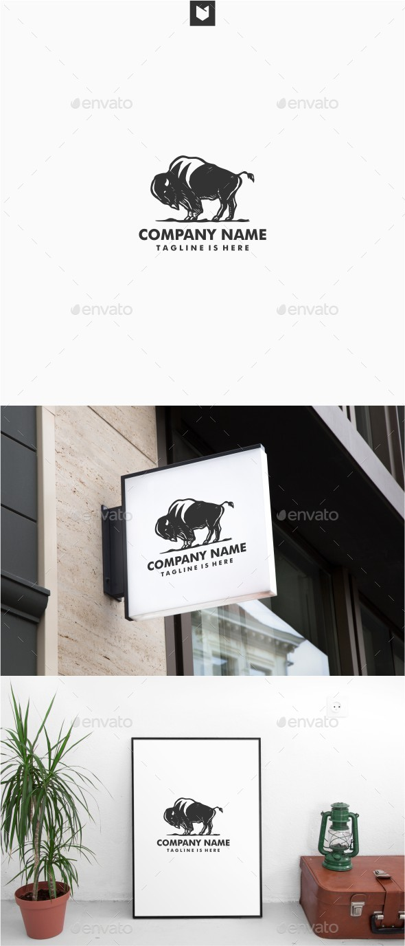 Bison Logo - Animals Logo Templates