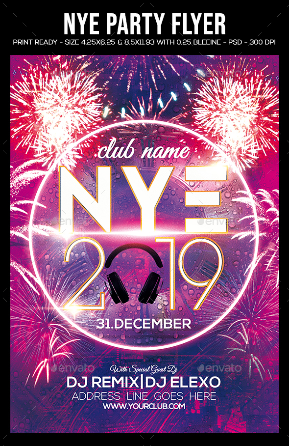 NYE Party Flyer - Clubs & Parties Events