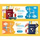 Go Travel Banner Horizontal Set - GraphicRiver Item for Sale