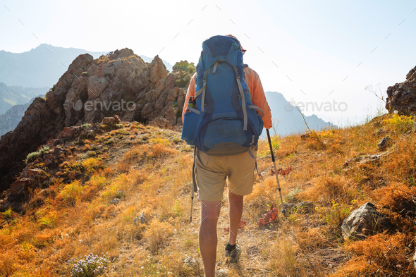 Hike in Uzbekistan - Stock Photo - Images
