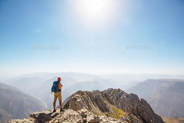 Hike in Uzbekistan - Stock Photo - Images