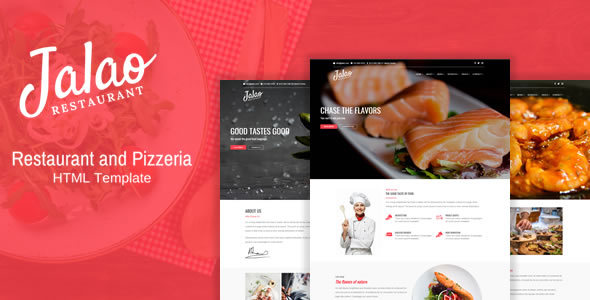 Jalao - Restaurant & Pizza HTML Template by QuickDev