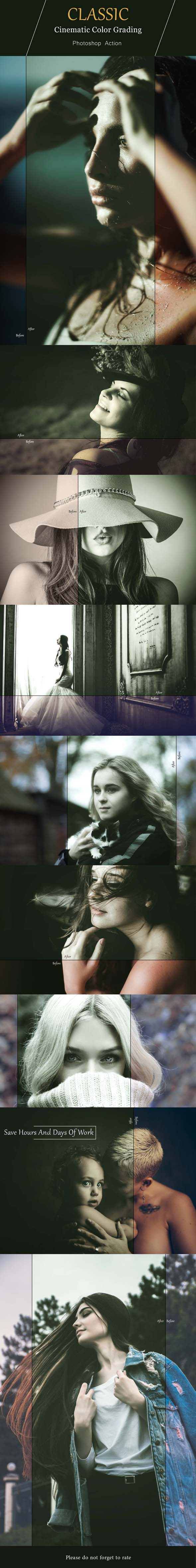 Neo Classic Cinematic Color Grading - Photo Effects Actions