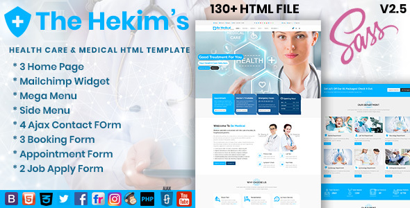 Hekim's Health Care & Medical Hospital HTML Template - Health & Beauty Retail