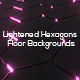 Lightened Hexagons Floor Backgrounds - GraphicRiver Item for Sale