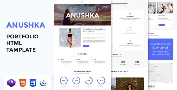 Anushka - Portfolio HTML Template - Portfolio Creative