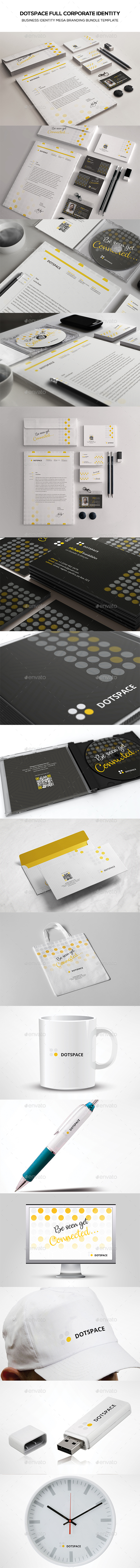 Dotspace Full Corporate Identity - Stationery Print Templates