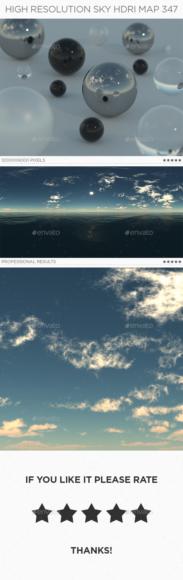High Resolution Sky HDRi Map 347 - 3DOcean Item for Sale