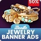 Jewelry Golden Banner HTML5 - GWD - CodeCanyon Item for Sale