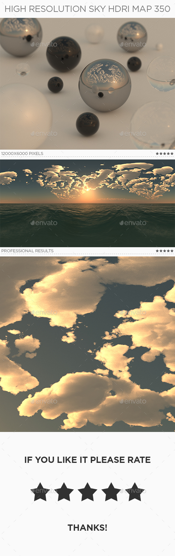 High Resolution Sky HDRi Map 350 - 3DOcean Item for Sale
