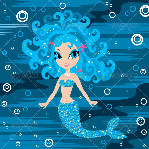 Mermaid cartoon - Characters Vectors