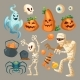 Vector Halloween Objects October Holiday Cartoon