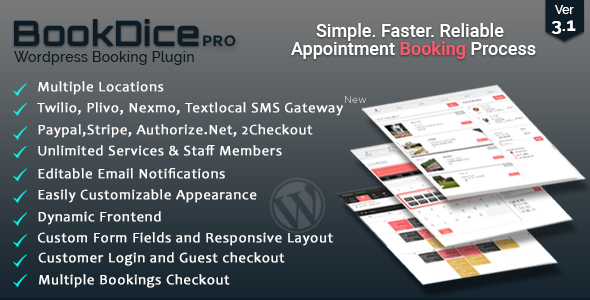 Appointment Booking and Scheduling for Wordpress-BookDice
