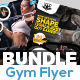 Fitness Flyers Bundle-Graphicriver中文最全的素材分享平台