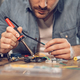 Engineer Working On Circuit Board - PhotoDune Item for Sale