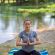 woman meditating and doing yoga exercise - PhotoDune Item for Sale