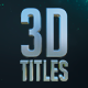 3D Titles - No Plugins - VideoHive Item for Sale