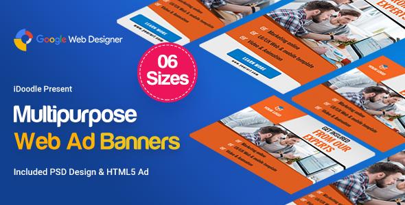 Multi Purpose Banners HTML5 D6 - GWD            Nulled