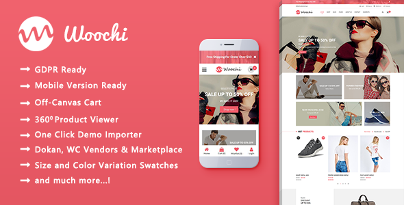 Woochi - Stylish Fashion Trend WooCommerce WordPress Theme - WooCommerce eCommerce