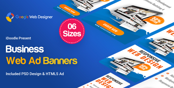 Website Responsive Banners HTML5 - GWD            Nulled