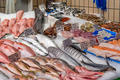Market stall with fresh fish and seafood - PhotoDune Item for Sale