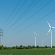 Overhead power lines and wind energy plants - PhotoDune Item for Sale